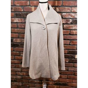 Eileen Fisher Textured 1-Button Swing Coat Jacket